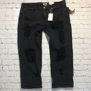 NEW Mudd destroyed crop jeans sz 15